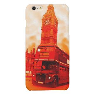ロンドンの赤いバス及びビッグベンのiPhone 6のプラスの場合 マットiPhone 6 Plusケース