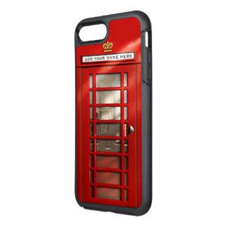 ロンドンの赤い公衆電話ボックスのおもしろいなイギリス都市 オッターボックスシンメトリーiPhone 8 PLUS/7 PLUSケース