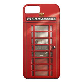 ロンドンの赤い公衆電話ボックスのiPhone 7のイギリス都市 iPhone 8/7ケース