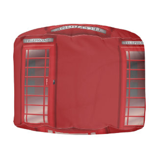 ロンドンの赤い公衆電話ボックス呼出し箱 プーフ
