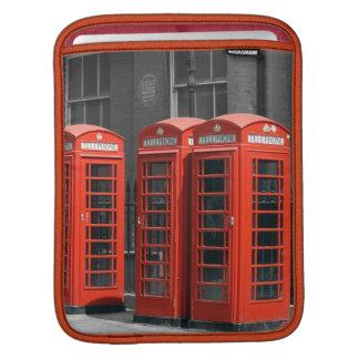 ロンドンの赤い電話ボックスのiPadの袖 iPadスリーブ