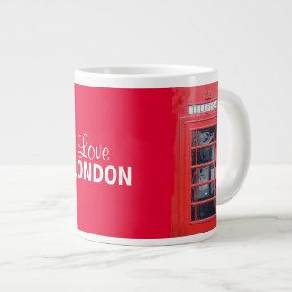 ロンドンの赤い電話ボックス ジャンボコーヒーマグカップ