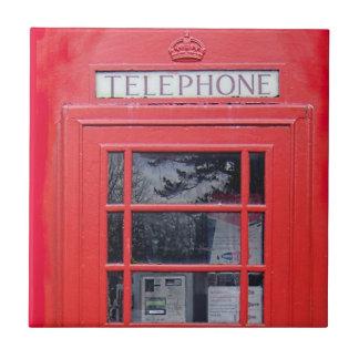 ロンドンの赤い電話ボックス タイル
