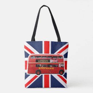 ロンドンの赤バス トートバッグ