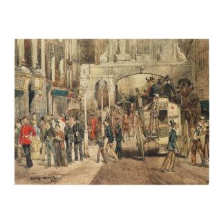 ロンドンの通り1869年 ウッドウォールアート
