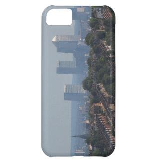 ロンドンの都市景観-カナリア色の波止場の写真 iPhone5Cケース