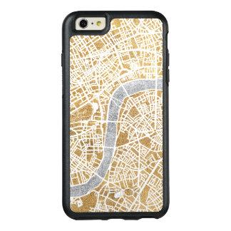 ロンドンの金めっきされた都市地図 オッターボックスiPhone 6/6S PLUSケース
