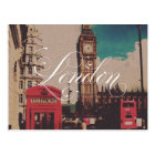 ロンドンの陸標のヴィンテージの写真 ポストカード
