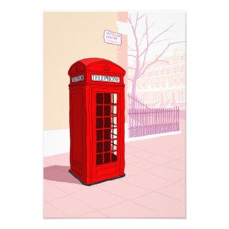 ロンドンの電話ボックス フォトプリント