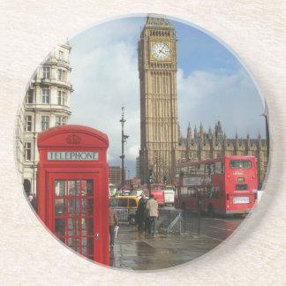 ロンドンの電話箱及びビッグベン(St.K) コースター