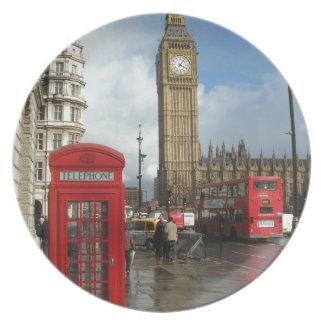 ロンドンの電話箱及びビッグベン(St.K) プレート