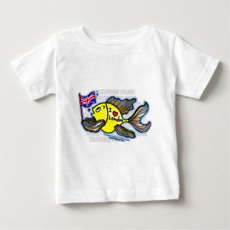 ロンドンの魚 ベビーTシャツ