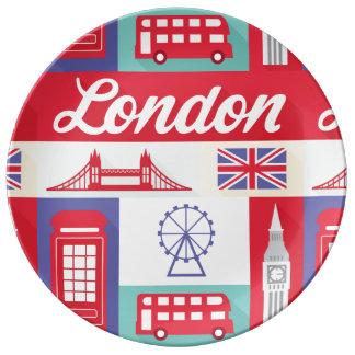 ロンドンイギリスのイギリスの世紀半ばの芸術の磁器皿 磁器プレート
