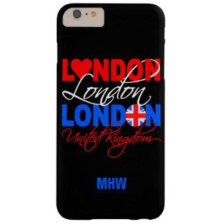 ロンドンイギリスのカスタムなモノグラムの電話箱 BARELY THERE iPhone 6 PLUS ケース