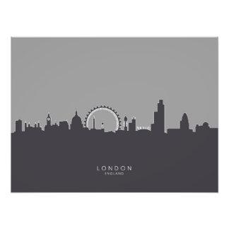 ロンドンイギリスのスカイライン フォトプリント