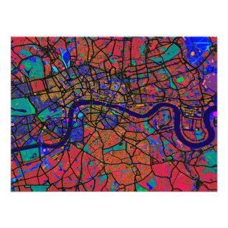 ロンドンイギリスの通り地図 フォトプリント