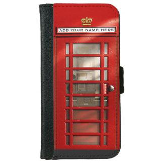 ロンドンイギリスの都市赤い公衆電話ボックス iPhone 6/6S ウォレットケース