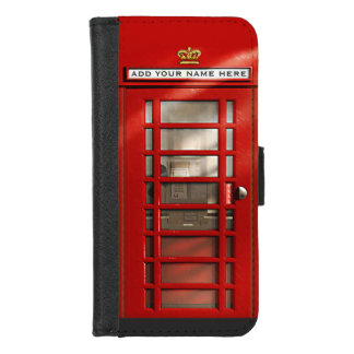 ロンドンイギリスの都市赤い公衆電話ボックス iPhone 8/7 ウォレットケース