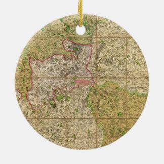 ロンドンイギリスの1820年のMoggのポケットか場合の地図 セラミックオーナメント