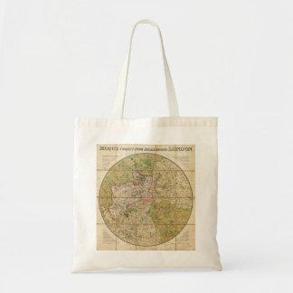ロンドンイギリスの1820年のMoggのポケットか場合の地図 トートバッグ