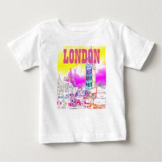 ロンドンウエストミンスタービッグベン ベビーTシャツ