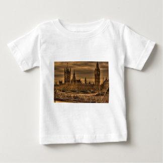 ロンドンウエストミンスター宮殿及びビッグベン ベビーTシャツ