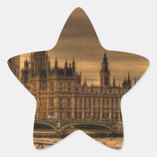 ロンドンウエストミンスター宮殿及びビッグベン 星シール