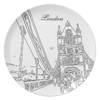 ロンドンタワー橋プレート プレート