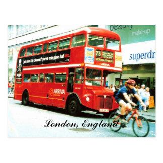 ロンドンバス郵便はがき ポストカード