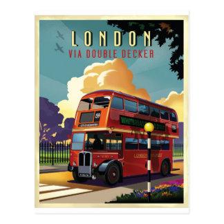 ロンドンバス ポストカード