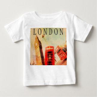 ロンドンビッグベンのヴィンテージのスタイルのTシャツ ベビーTシャツ