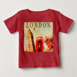 ロンドンビッグベンのヴィンテージのスタイルはTシャツをからかいます ベビーTシャツ