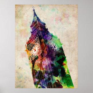 ロンドンビッグベンの都市芸術 ポスター