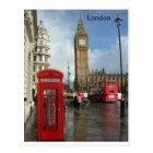 ロンドンビッグベンの電話箱(St.K)によって ポストカード