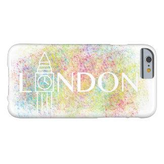 ロンドンビッグベン色のしぶきの(白い) iPhoneの箱 Barely There iPhone 6 ケース