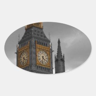 ロンドンビッグベン 楕円形シール