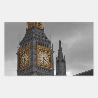 ロンドンビッグベン 長方形シール