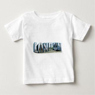 ロンドンレトロ旅行フォント ベビーTシャツ