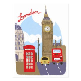 ロンドン場面 ポストカード