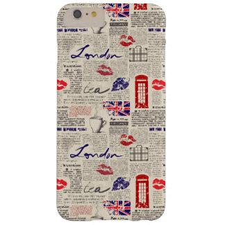 ロンドン新聞パターン BARELY THERE iPhone 6 PLUS ケース