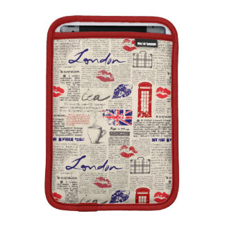 ロンドン新聞パターン iPad MINIスリーブ