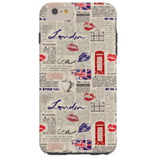 ロンドン新聞パターン TOUGH iPhone 6 PLUS ケース