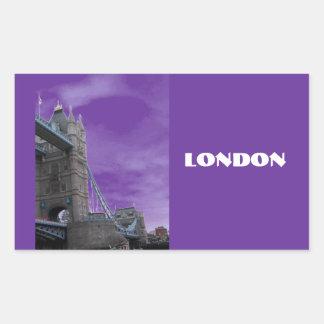 ロンドン橋 長方形シール