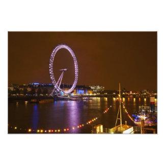 ロンドン目、テムズ川およびライトからの フォトプリント