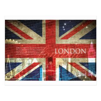 ロンドン英国国旗 ポストカード