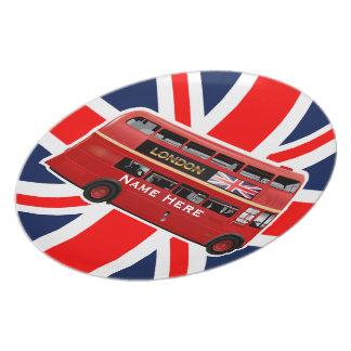 ロンドン赤いバス プレート