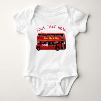 ロンドン赤いバス ベビーボディスーツ