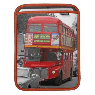 ロンドン赤く赤いバスiPadの袖 iPadスリーブ