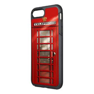 ロンドン都市イギリスの赤い公衆電話ボックス オッターボックスシンメトリーiPhone 8 PLUS/7 PLUSケース