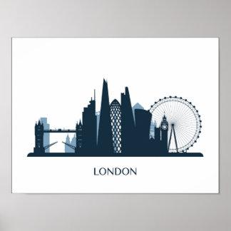ロンドン都市スカイライン ポスター